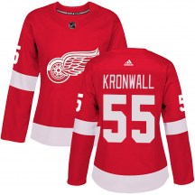 Detroit Red Wings Women's Niklas Kronwall Adidas Authentic Red Home Jersey