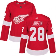 Detroit Red Wings Women's Reed Larson Adidas Authentic Red Home Jersey