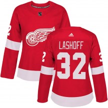 Detroit Red Wings Women's Brian Lashoff Adidas Authentic Red Home Jersey