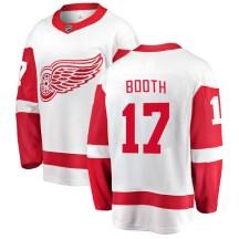 Detroit Red Wings Men's David Booth Fanatics Branded Breakaway White Away Jersey