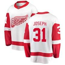 Detroit Red Wings Men's Curtis Joseph Fanatics Branded Breakaway White Away Jersey