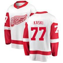Detroit Red Wings Men's Oliwer Kaski Fanatics Branded Breakaway White Away Jersey