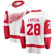 Detroit Red Wings Men's Reed Larson Fanatics Branded Breakaway White Away Jersey