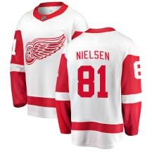 Detroit Red Wings Men's Frans Nielsen Fanatics Branded Breakaway White Away Jersey