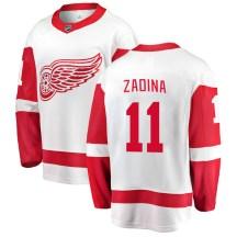 Detroit Red Wings Men's Filip Zadina Fanatics Branded Breakaway White Away Jersey
