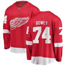 Detroit Red Wings Men's Madison Bowey Fanatics Branded Breakaway Red Home Jersey
