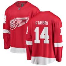 Detroit Red Wings Men's Robby Fabbri Fanatics Branded Breakaway Red Home Jersey