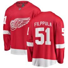 Detroit Red Wings Men's Valtteri Filppula Fanatics Branded Breakaway Red Home Jersey