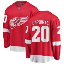 Detroit Red Wings Men's Martin Lapointe Fanatics Branded Breakaway Red Home Jersey