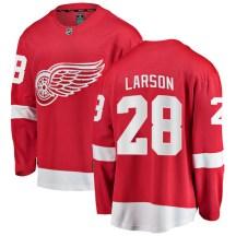 Detroit Red Wings Men's Reed Larson Fanatics Branded Breakaway Red Home Jersey