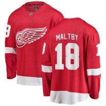 Detroit Red Wings Men's Kirk Maltby Fanatics Branded Breakaway Red Home Jersey