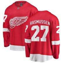 Detroit Red Wings Men's Michael Rasmussen Fanatics Branded Breakaway Red Home Jersey
