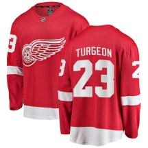 Detroit Red Wings Men's Dominic Turgeon Fanatics Branded Breakaway Red Home Jersey