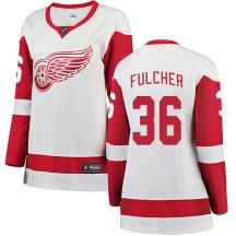 Detroit Red Wings Women's Kaden Fulcher Fanatics Branded Breakaway White Away Jersey