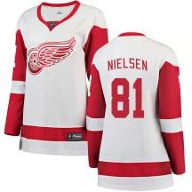 Detroit Red Wings Women's Frans Nielsen Fanatics Branded Breakaway White Away Jersey