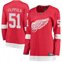 Detroit Red Wings Women's Valtteri Filppula Fanatics Branded Breakaway Red Home Jersey