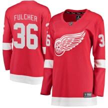 Detroit Red Wings Women's Kaden Fulcher Fanatics Branded Breakaway Red Home Jersey