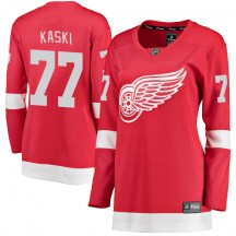 Detroit Red Wings Women's Oliwer Kaski Fanatics Branded Breakaway Red Home Jersey