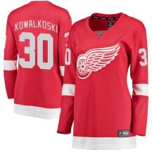 Detroit Red Wings Women's Justin Kowalkoski Fanatics Branded Breakaway Red Home Jersey