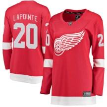 Detroit Red Wings Women's Martin Lapointe Fanatics Branded Breakaway Red Home Jersey