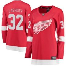 Detroit Red Wings Women's Brian Lashoff Fanatics Branded Breakaway Red Home Jersey