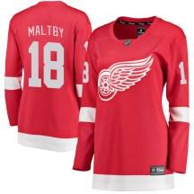 Detroit Red Wings Women's Kirk Maltby Fanatics Branded Breakaway Red Home Jersey