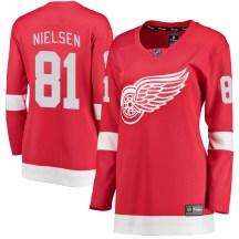 Detroit Red Wings Women's Frans Nielsen Fanatics Branded Breakaway Red Home Jersey