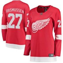Detroit Red Wings Women's Michael Rasmussen Fanatics Branded Breakaway Red Home Jersey