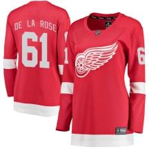 Detroit Red Wings Women's Jacob De La Rose Fanatics Branded Breakaway Red Home Jersey