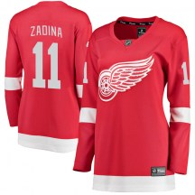Detroit Red Wings Women's Filip Zadina Fanatics Branded Breakaway Red Home Jersey