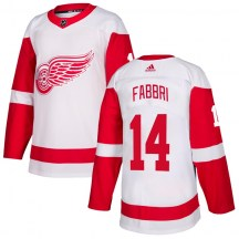 Detroit Red Wings Youth Robby Fabbri Adidas Authentic White Jersey