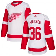 Detroit Red Wings Youth Kaden Fulcher Adidas Authentic White Jersey