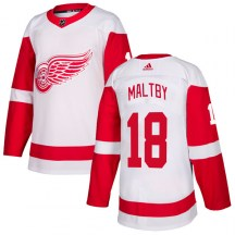 Detroit Red Wings Youth Kirk Maltby Adidas Authentic White Jersey