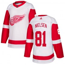 Detroit Red Wings Youth Frans Nielsen Adidas Authentic White Jersey