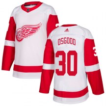 Detroit Red Wings Youth Chris Osgood Adidas Authentic White Jersey