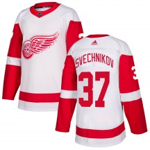 Detroit Red Wings Youth Evgeny Svechnikov Adidas Authentic White Jersey