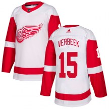 Detroit Red Wings Youth Pat Verbeek Adidas Authentic White Jersey