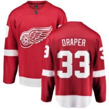 Detroit Red Wings Youth Kris Draper Fanatics Branded Breakaway Red Home Jersey