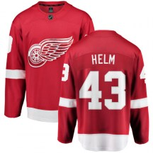 Detroit Red Wings Men's Darren Helm Fanatics Branded Breakaway Red Home Jersey