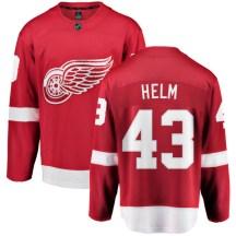 Detroit Red Wings Youth Darren Helm Fanatics Branded Breakaway Red Home Jersey