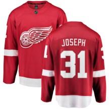 Detroit Red Wings Men's Curtis Joseph Fanatics Branded Breakaway Red Home Jersey