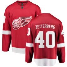 Detroit Red Wings Youth Henrik Zetterberg Fanatics Branded Breakaway Red Home Jersey