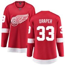 Detroit Red Wings Women's Kris Draper Fanatics Branded Breakaway Red Home Jersey
