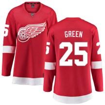 Detroit Red Wings Women's Mike Green Fanatics Branded Breakaway Green Red Home Jersey