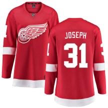 Detroit Red Wings Women's Curtis Joseph Fanatics Branded Breakaway Red Home Jersey