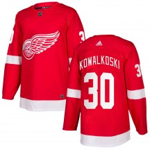 Detroit Red Wings Youth Justin Kowalkoski Adidas Authentic Red Home Jersey
