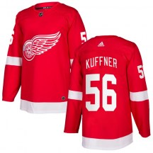 Detroit Red Wings Youth Ryan Kuffner Adidas Authentic Red Home Jersey