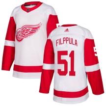 Detroit Red Wings Men's Valtteri Filppula Adidas Authentic White Jersey