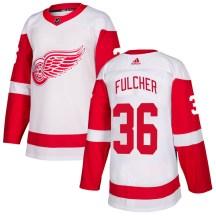 Detroit Red Wings Men's Kaden Fulcher Adidas Authentic White Jersey