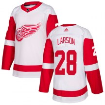 Detroit Red Wings Men's Reed Larson Adidas Authentic White Jersey
